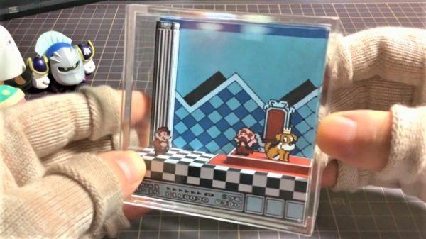 マリオのワンシーンをペーパークラフトで作ってみた! 少ない枚数で奥行きの立体感を見事に再現
