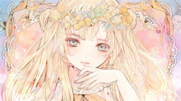 春が待ち遠しい 「花冠」が似合う女の子イラスト詰め合わせ