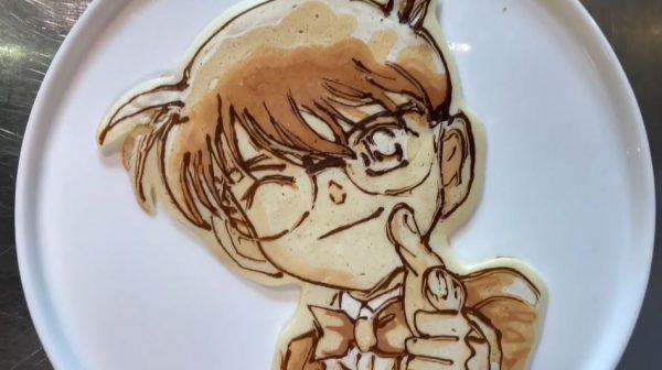 """『名探偵コナン』のパンケーキを焼いてみた! """"焼き色だけ""""で表現したキャラたちに「かっけぇー!」「ペンでかいてるみたい」"""