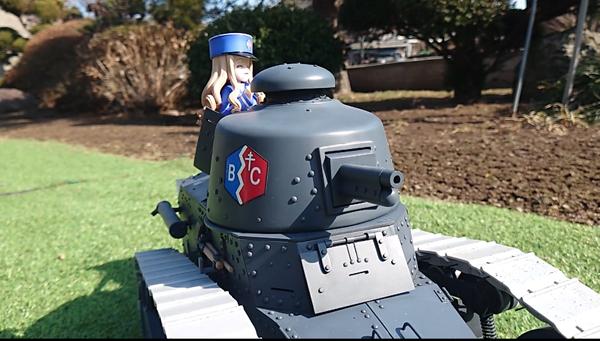 『ガルパン』マリーの愛機「ルノー FT-17」をフルスクラッチで作ってしまう猛者あらわる! 回転する砲塔やフィギュア搭乗も可能なこだわりに注目