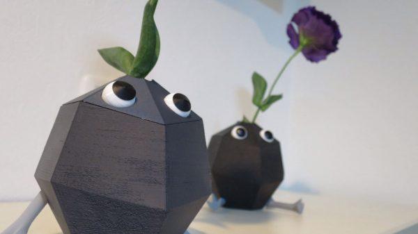 岩ピクミンの一輪挿しを3Dプリンタで作ってみた! 印刷時に発生してしまうゴツゴツを岩肌として生かすアイデアが初心者にやさしい