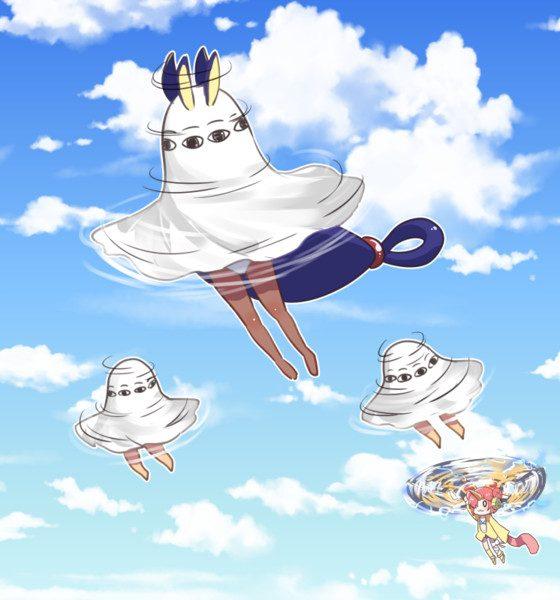 そうは飛べんやろ! 「どう考えても無理のある飛び方」をしているアニメ&ゲームキャラクターイラスト集