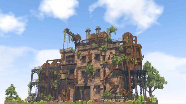 『Minecraft』の新MOD「MiniaTuria」で廃工場を作ってみた! 錆びた鉄タンク、浸食する植物…ブロックの組み合わせ方がセンスの塊