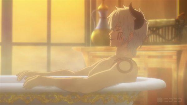 浴槽でくつろぐディアヴロに「ごくごく」「●REC」コメントが。『異世界魔王と召喚少女の奴隷魔術Ω』第10話コメント盛り上がったシーンTOP3