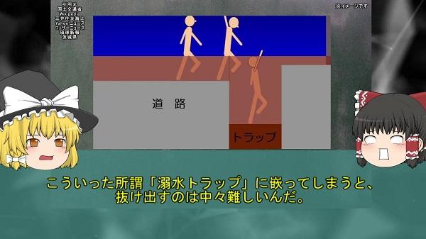"""大雨でフタが外れたマンホールに人が吸い込まれる事故が東京各地で発生していた…夏の集中豪雨により""""溺水トラップ""""と化した「豪雨マンホール転落事故」を解説"""