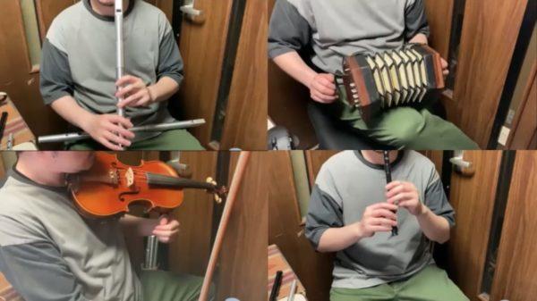 『ウマ娘』ガチャ曲を4つの楽器を使って一人合奏! ほのぼのしたアイリッシュ楽器の音色に「草原が見える」と絶賛の声
