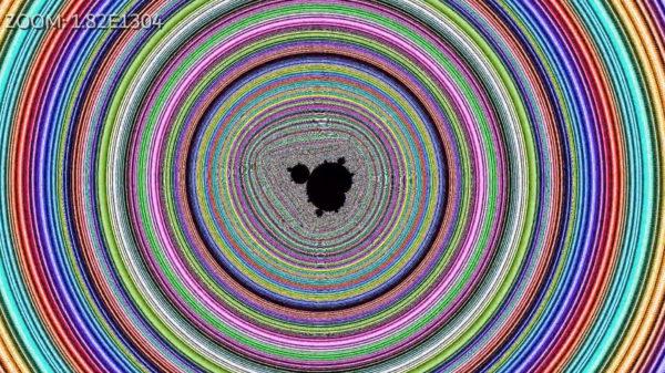 10の1304乗倍までマンデルブロ集合を拡大してみた! 相似図形がぬるぬる現れるフラクタル映像の総時間はなんと96分超