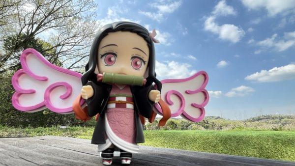 """『鬼滅の刃』禰豆子に翼を授けてみた! """"空飛ぶ""""ねんどろいど禰豆子のコマ撮りアニメに「かわいい」の声集まる"""