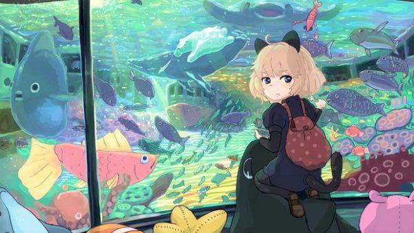 お魚いっぱい! 「水族館」を楽しむ女の子キャラクターのイラスト詰め合わせ